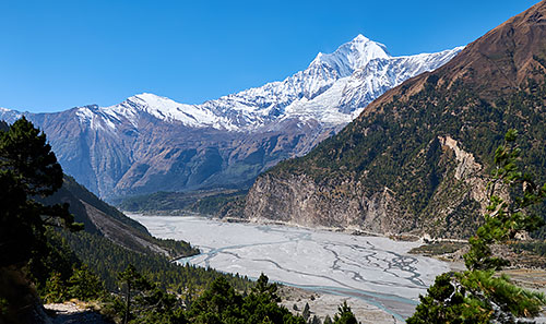 Dhaulagiri And Kali Gandaki River Valley