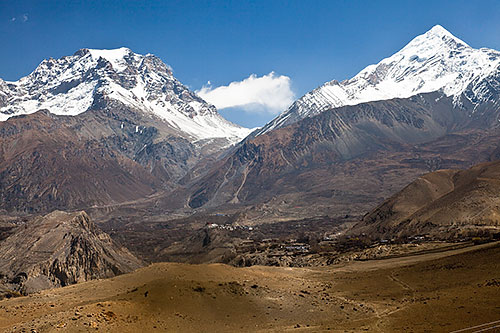 Looking Back Up The Jhong Khola Valley To Jharkot Muktinath And The Thorong La Pass 4523539947