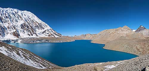 Peak Tilicho And Lake Tilicho